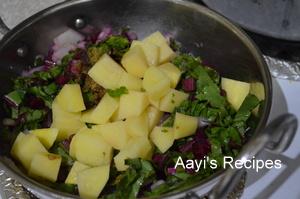 beetroot leaves-potato soup3