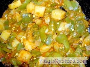 Masala Capsicum with potato(Punjabi batata)
