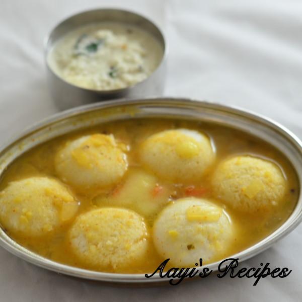 Mini Idli Sambar Chutney