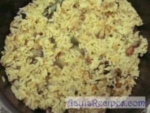 Rice with eggplant (Vangi bhath)