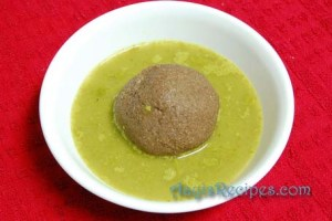 Mashed green gravy(Massaru)