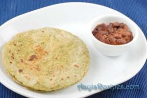 Mint-Peas flatbread(Pudina-Matar Paratha)