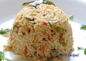 Tomato-capsicum rice