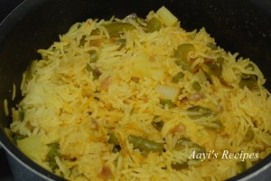 Vegetable and Egg pulav