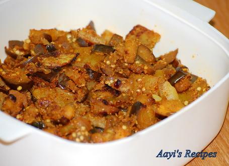 eggplant potato sidedish