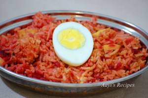 Beetroot & Egg Rice
