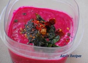 Beetroot-Yogurt Gravy (Beetroot Tambli)