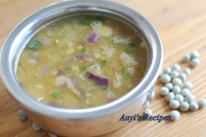 Green Dried Peas Gravy (Vatane Amti)