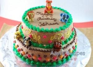 Chocolate Cake – First Birthday Jungle Cake