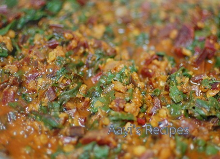 beetroot leaves masoor dal sidedish4