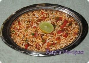 Spicy Puffed Rice (Masala Mandakki / Chirmuri)
