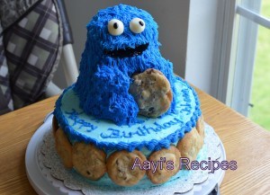 Chocolate Cake – Second Birthday Cookie Monster Cake