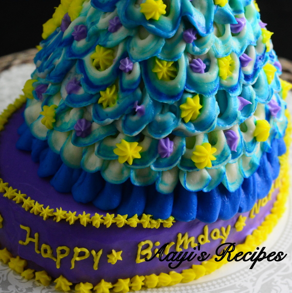 blue princess cake2