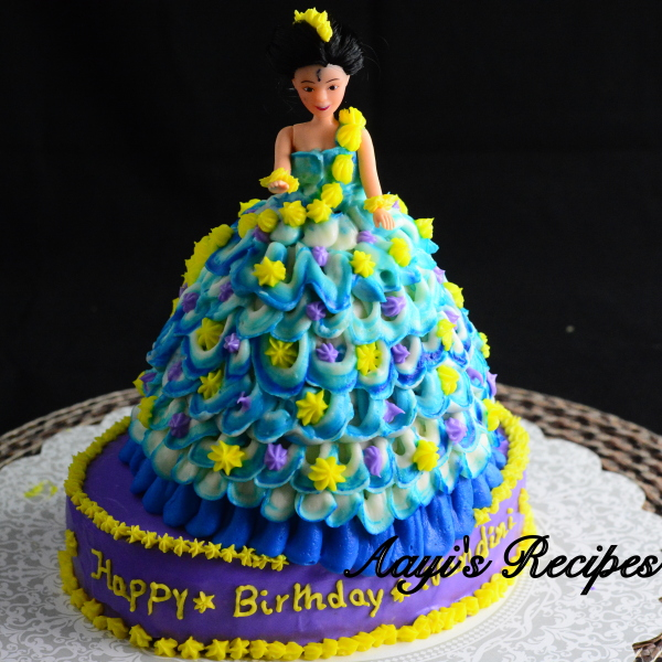 blue princess cake7