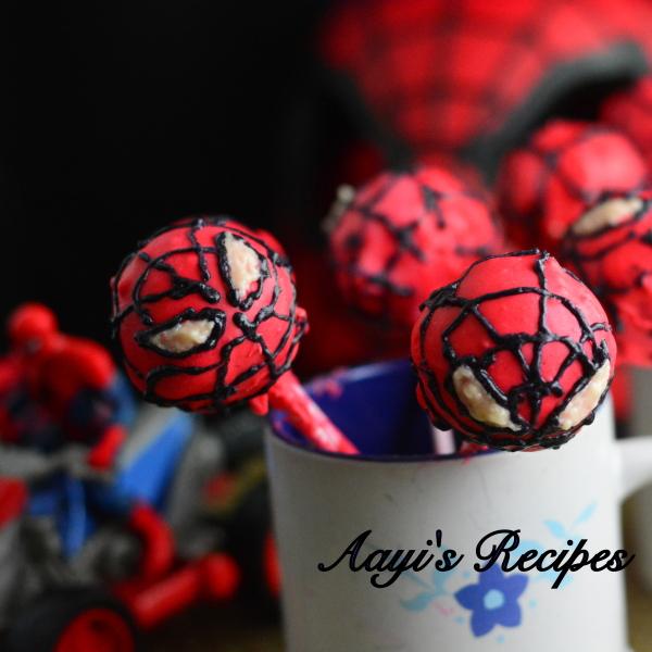 Spiderman Cake Pops