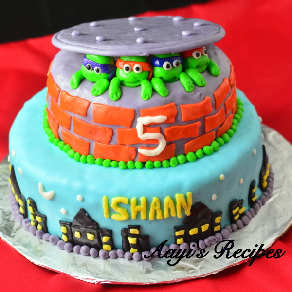 Ninja Turtles Cake - Aayis Recipes