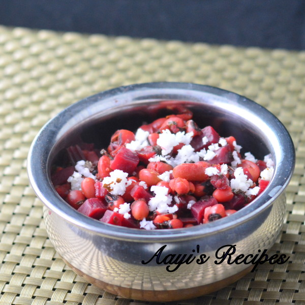 Beetroot - Black eyed peas Sidedish