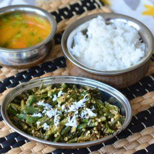 Okra Sidedish (Bhende Upkari)