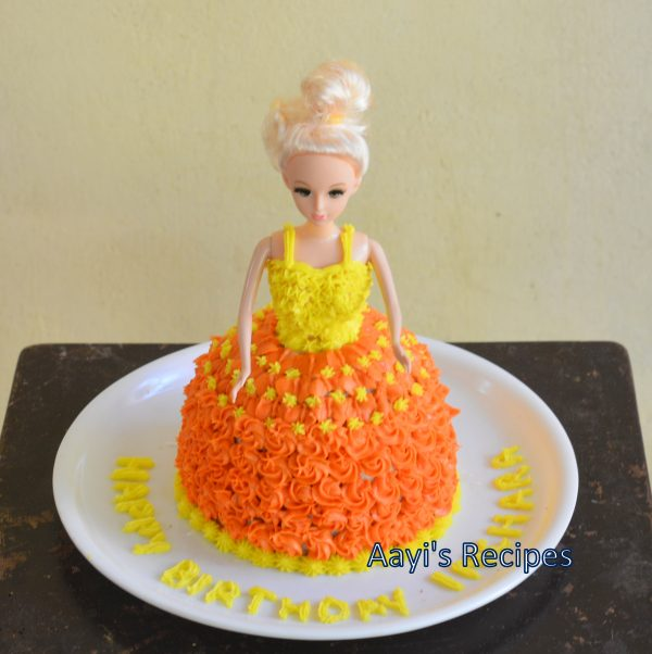 Pressure Cooker Cake A Princess Birthday Cake Aayis Recipes