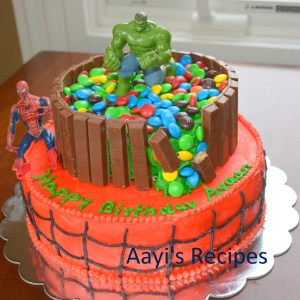 Hulk Smash – Spiderman Cake