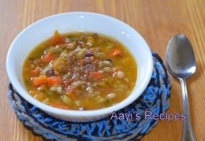 Beans – Butternut Squash soup