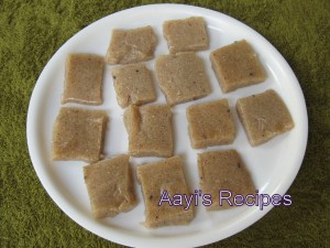 Finger Millet Sweetdish (Nanchne Duddalli / Ragi Manni) Without coconut