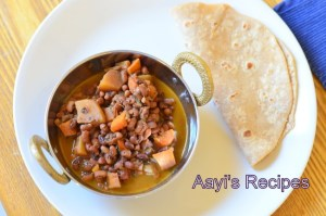 Red Cowpeas Curry with Vegetable