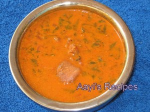 Red Amaranth Gravy (Tamdi bhajji – Odi Ambat)