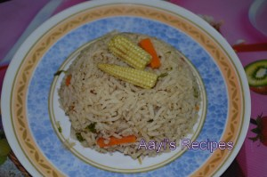 Vegetable Pulav with Babycorn