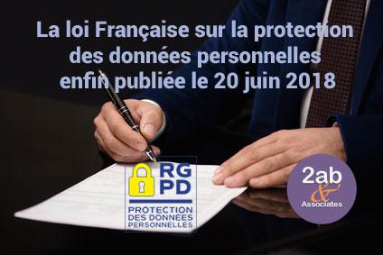 RGPD - La loi Française sur la protection des données personnelles publiée le 20 Juin 2018