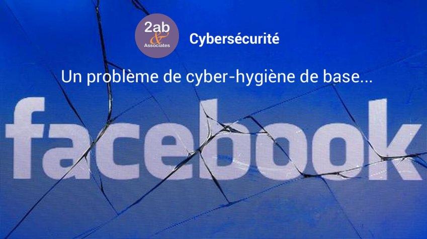 Facebook piraté : un problème de cyberhygiène de base