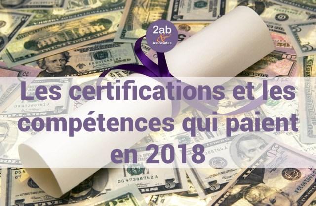 Les certifications et les compétences les mieux payées en 2018