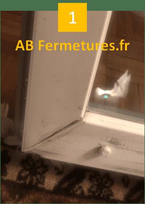 Démonstration réparation menuiserie pvc - Etape 1 - AB Fermetures Le Havre