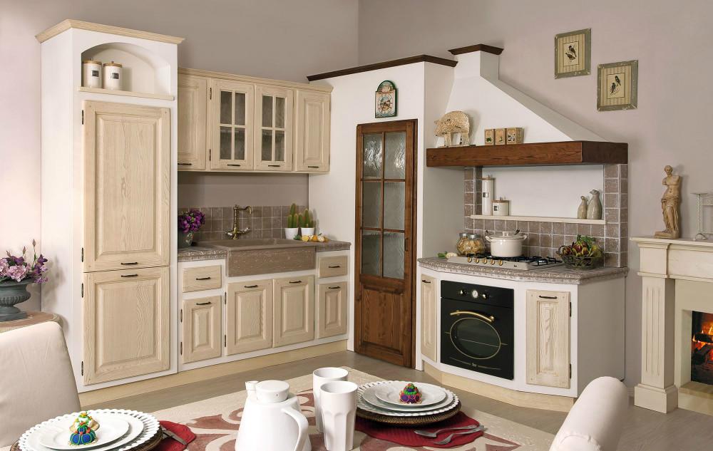 Cucine in muratura e finta muratura