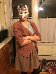 Acadia Kocker as a skeptical female Superb Bird-of-Paradise