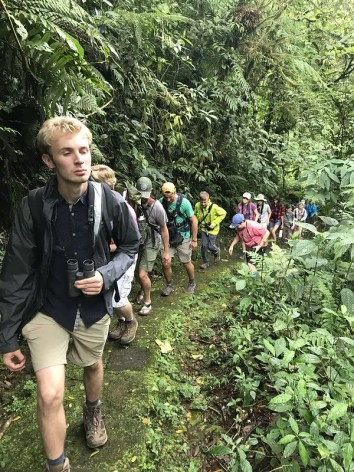 Campers on Trail Costa Rica 2019