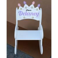 Toddler Princess Crown Rocker Kids Rocking Chairs