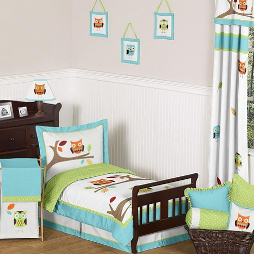 monogrammed toddler chair la z boy chairs hooty bedding collection boys - ababy.com