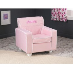 Pink Slipcover Chair Rolling Office Kidkraft Personalized Laguna For Toddlers Kids Chairs Swatches