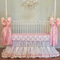Avory Silk Bumperless Crib Bedding Set Crib Bedding for ...