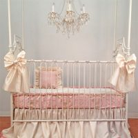 Silk Damask Bumperless Crib Bedding Set Crib Bedding for ...