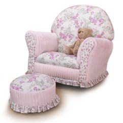 Kids Upholstered Rocking Chair Banana Leaf Cushion Kid S Floral Chenille Premier Hb Me Jpg