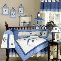 Stars and Moons Crib Bedding Set by Sweet Jojo Designs