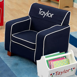 Personalized Blue Chairs Laguna Chairs Armchair