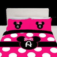 Personalized Minnie Mouse Toddler Bedding
