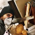 Shekere instrument chopping