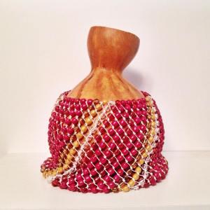 Shekere instrument pink gold