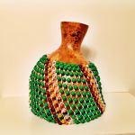 shekere instrument green gold