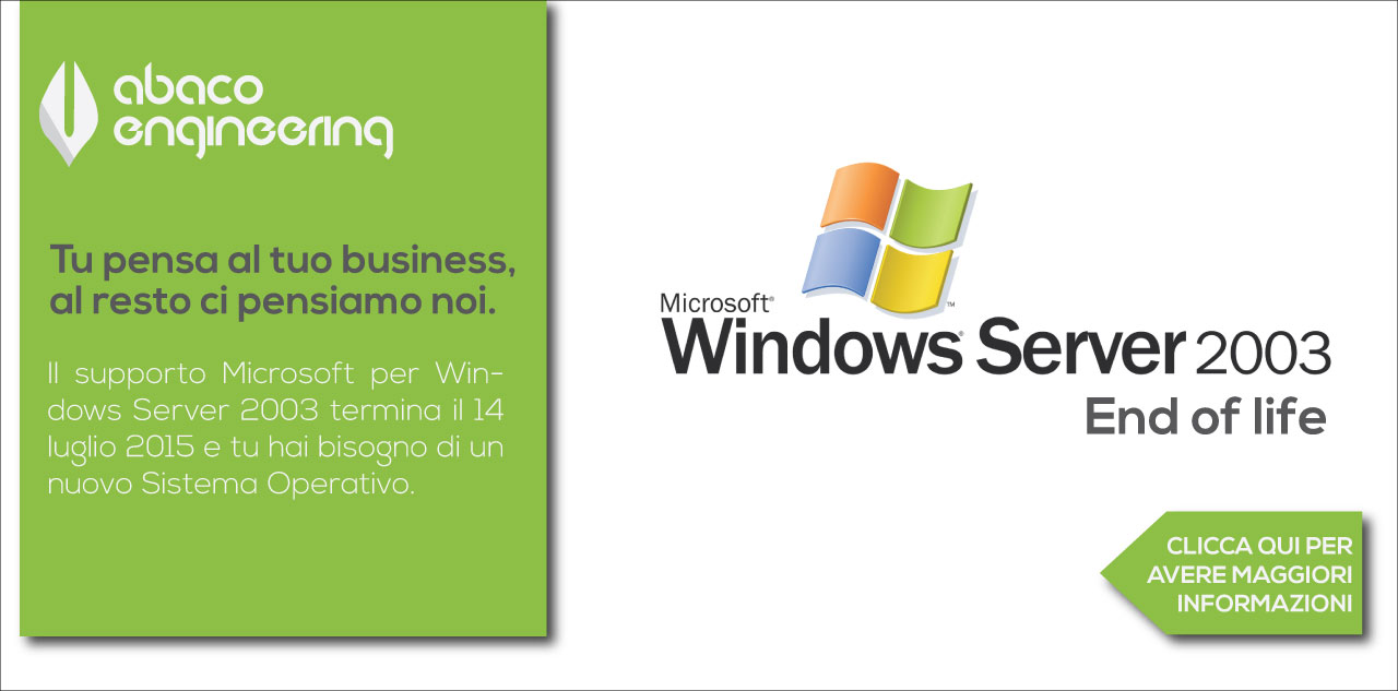 Windows Server 2003 end of life  Abaco Engineering