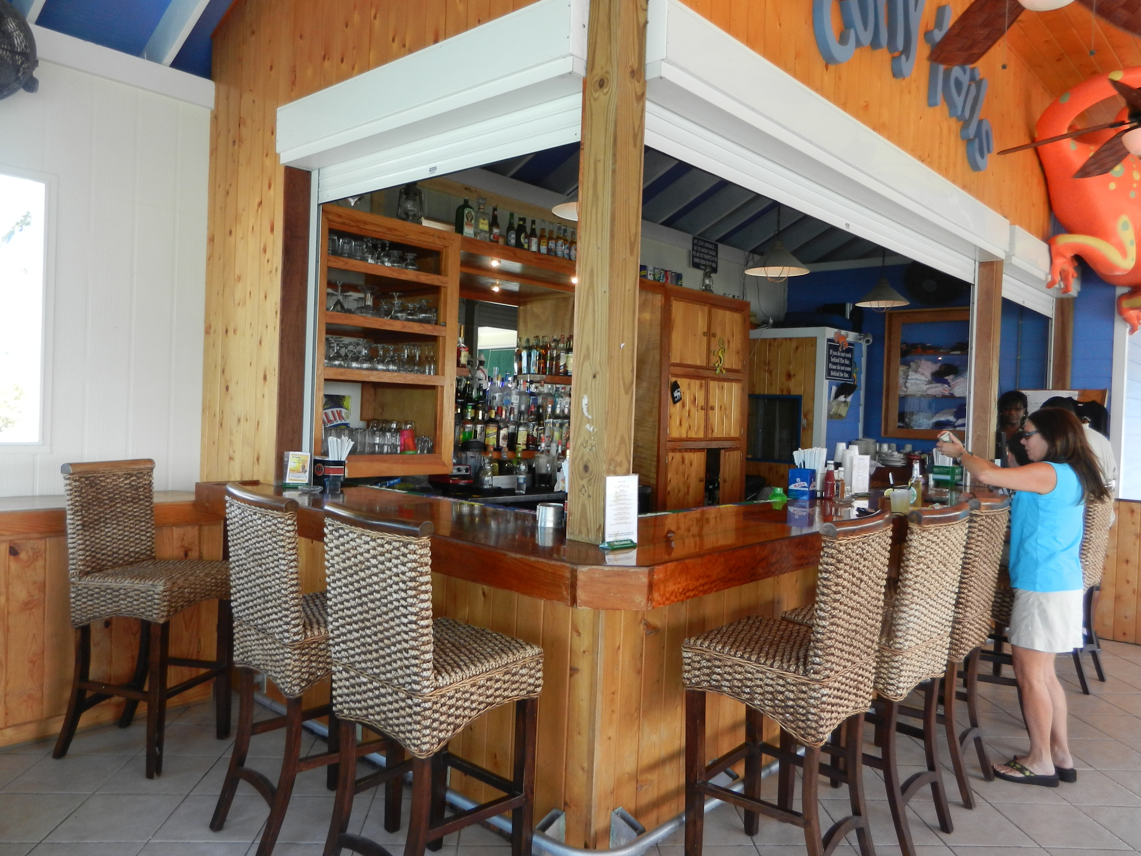 The bar - upstairs - at Curly Tails.